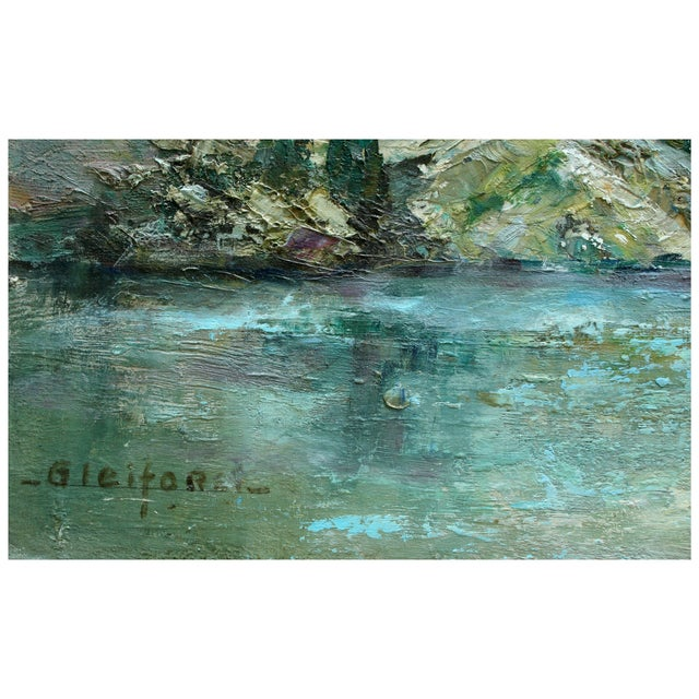 Helen Gleiforst Vintage Peak Yosemite Painting - Image 3 of 3