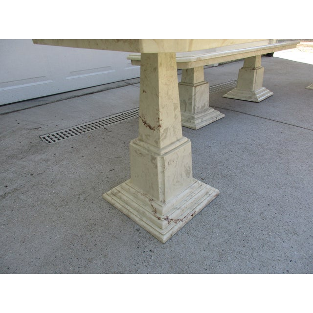 Marble End Tables and Coffee Table - Set of 3 - Image 7 of 11