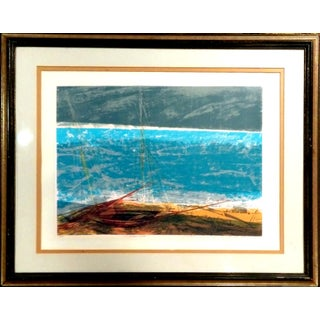 "1973 ""Serene Sea"" Serigraph by Howard Bradford"