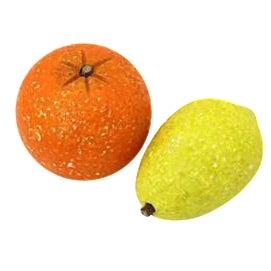 1960s Italian Alabaster Citrus Fruit - 2 Pieces