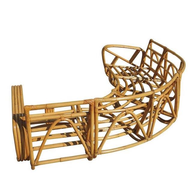 Paul Frankl Four Strand Rattan Six-Seat Corner Sectional Sofa - Image 7 of 9