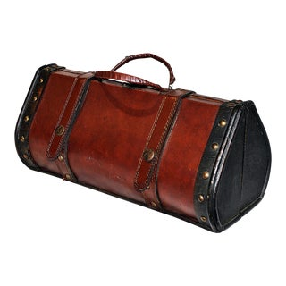 Decorative Leather Wooden Satchel