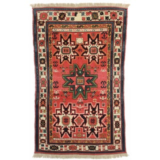 Hand Knotted Wool Chinese Rug - 4′11″ × 8′1″