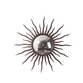 Portuguese 19th Century Metal Starburst Mirror