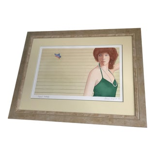 Vintage 'Rachel's Butterfly' Watercolor