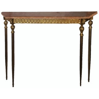 Vintage Italian Marble Top Console