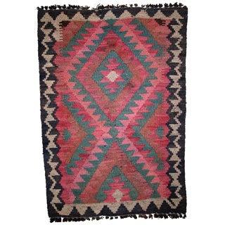 Vintage Afghan Kilim - 1.8' X 2.7'