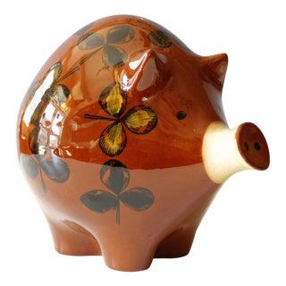 Rörstrand Sweden Mid-Century Ceramic Piggy Bank