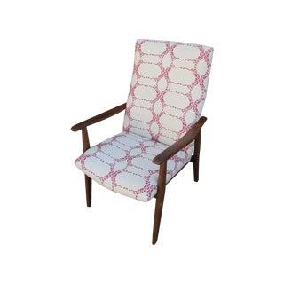 High Back Mid-Century Chair
