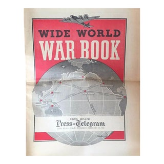 Vintage World War II Political Newspaper Art Print