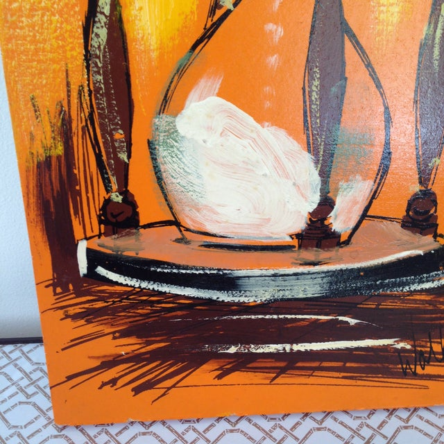 Mid-Century Hour Glass Painting - Image 4 of 4
