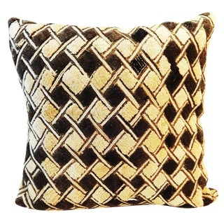 African Kuba Textile Pillow
