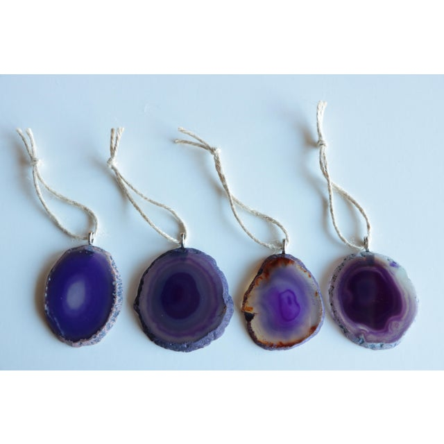 Agate Slice Christmas Ornaments - Set of 8 - Image 6 of 6
