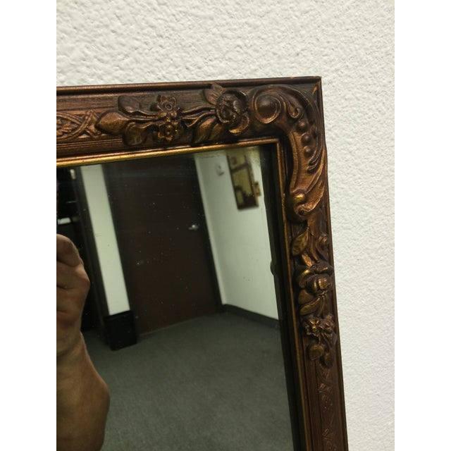 Early 1900s Ornate Hand Carved Mirror - Image 6 of 6