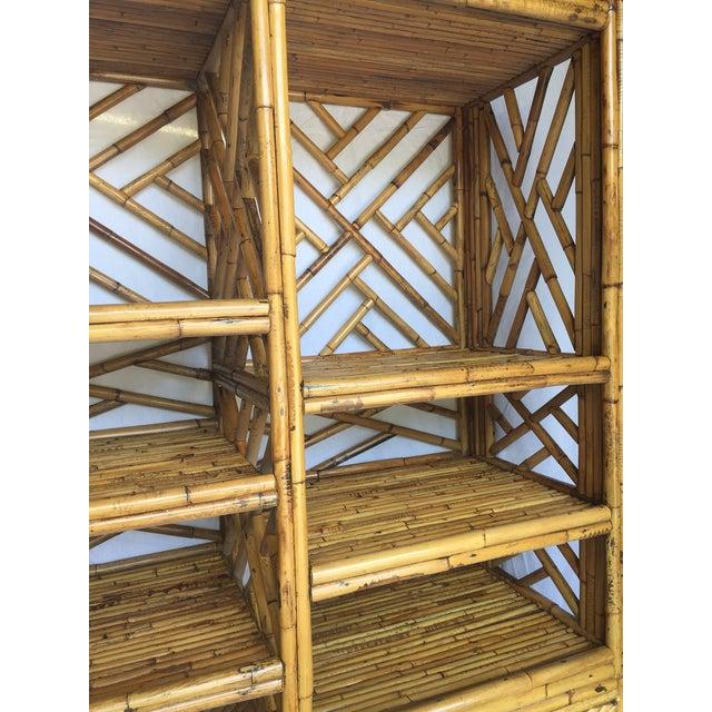 Vintage Split Bamboo Display Cabinet - Image 9 of 11