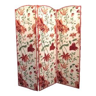Floral Scalamandre Room Divider