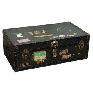Antique Trunk With Bronze Hardware