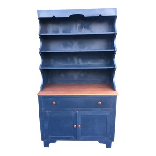 Blue Milk Paint Amish Hutch