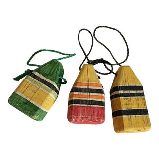 Colorful Wooden Buoys - Set of 3