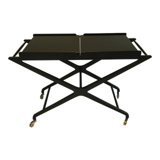 Cesare Lacca Ebonized Bar Cart