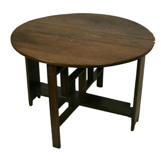 Shanxi Elmwood Round Folding Coffee Table