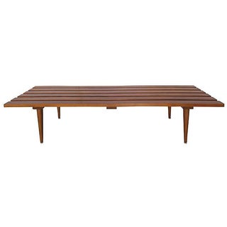 Danish Modern Slat Teak Coffee Table