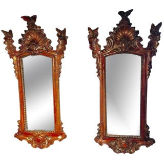 18th Century Pair of Gilt-wood Mirrors