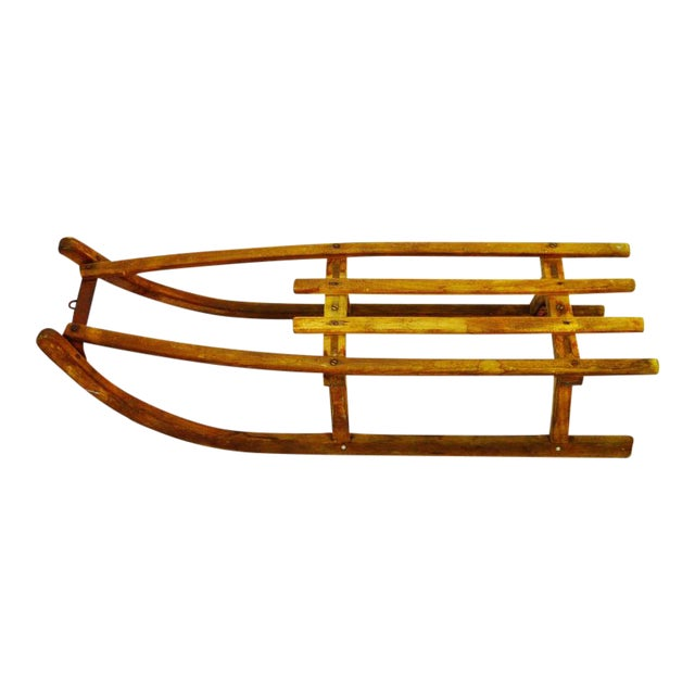 Early Children's Wooden Sled - Image 1 of 9