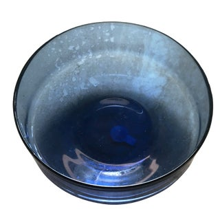 Italian Blue Art Glass Bowl