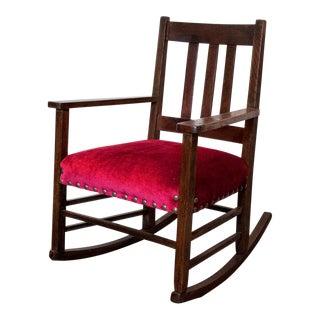 Craftsman Velvet Rocking Chair
