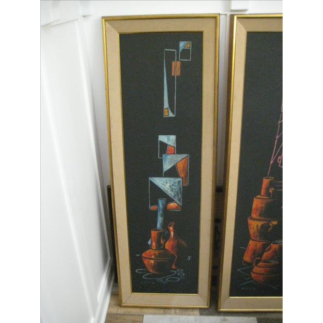 Early 1900 Original Cay Skot Paintings - A Pair - Image 5 of 10