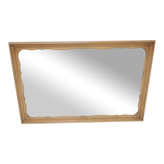 French Provincial Fruitwood Scalloped Mirror