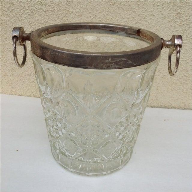 Mid Century Crystal Ice Bucket - Image 2 of 7