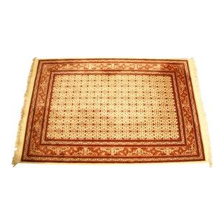 Handmade Silk & Wool Rug - 4′2″ × 6′7″