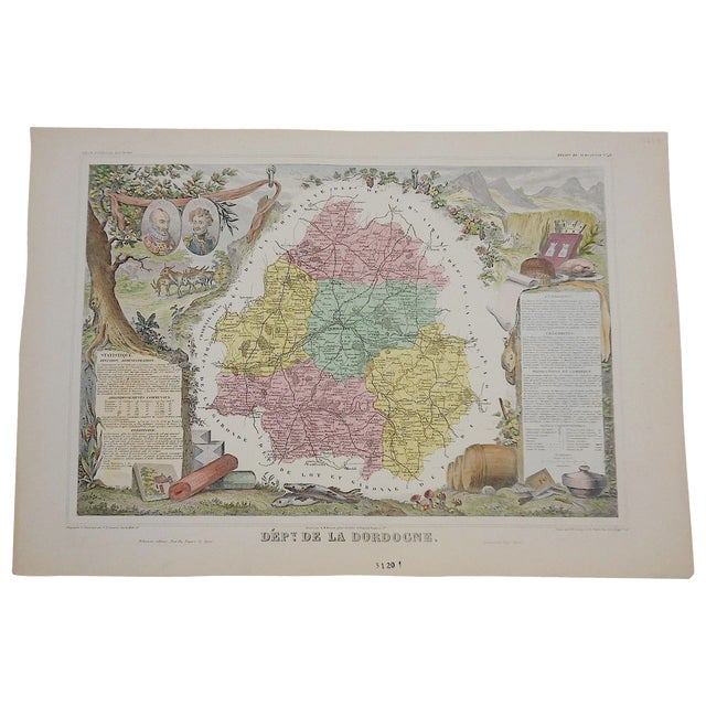 Antique Map Provinces of France Engraving - Image 1 of 3