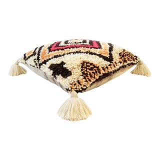 Vintage Moroccan Wool Pouf