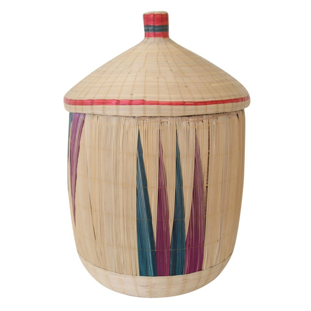 Woven Basket with Lid - Image 1 of 7