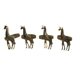 Giraffe Metal Napkin Rings - Set of 4