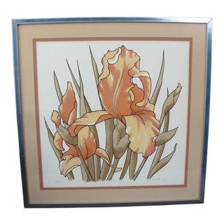 Vintage Limited Silkscreen Iris