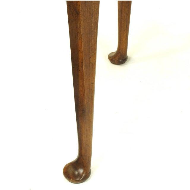 """Baker Furniture """"Milling Road"""" Figured Walnut Regency Side Table - Image 9 of 10"""