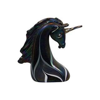 Stuart Abelman Art Glass Abelman Unicorn
