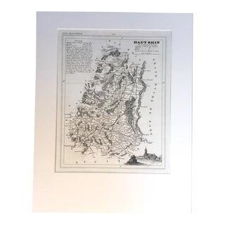 """19th C. Map of Haut Rhin, France, """"Petit Atlas..."""" 1833"""