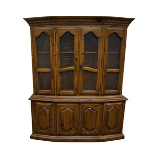 Ethan Allen French Style China Cabinet Breakfront