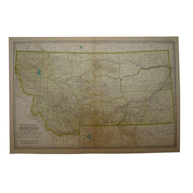 Antique Map of Montana C. 1902 - Image 1 of 4