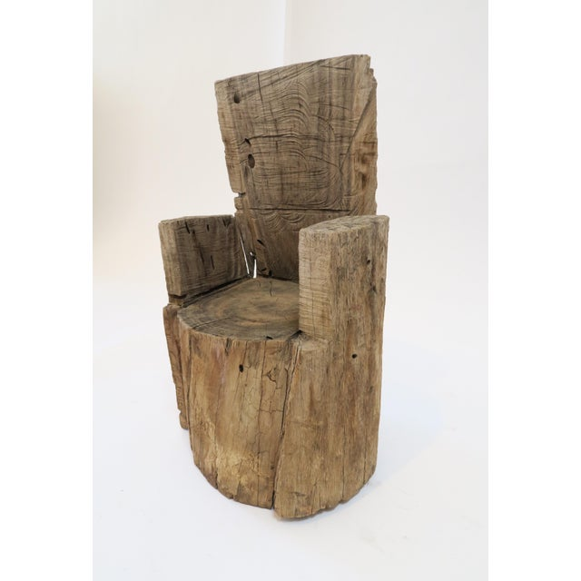 Childs Wood Stump Chair - Image 3 of 6