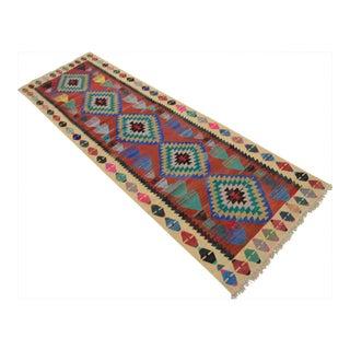 Vintage Turkish Handmade Kilim Runner Rug - 2′9″ × 8′12″