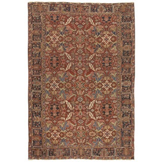 "Antique Persian Heriz Rug - 7'8"" x 10'8"""