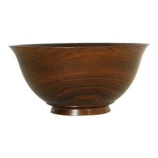 Turned rosewood bowl by Salisbury Artisans