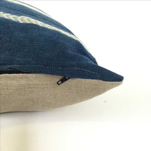 Vintage African Indigo Pillows - A Pair - Image 4 of 4