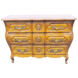 Auffray Style French Provincial Carved Walnut Commode